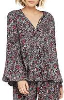 BCBGeneration Printed Peasant Top