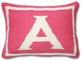 Jonathan Adler Letter Baby Pillow, Pink, Monogrammed A