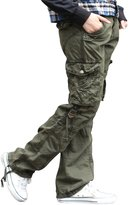 SkylineWears Mens Casual Cargo Pants Military Army Styles Cotton Trousers CM-BLK
