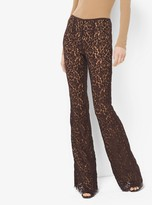 Michael Kors Floral Lace Flared Trousers