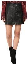 The Jetset Diaries Saraya Leather Mini Skirt