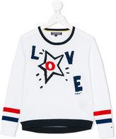 Tommy Hilfiger Junior - Love jumper - kids - Cotton - 8 yrs