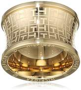 Tommy Hilfiger Women's Gold-Plated Stainless-Steel Waist Jacquard Print Ring - Size E