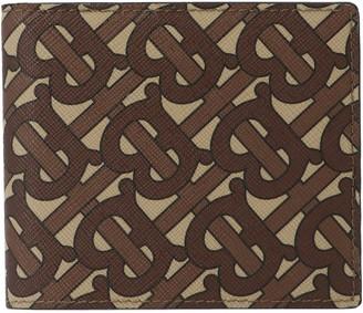Burberry Monogram Print Bi-Fold Wallet