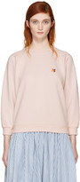 MAISON KITSUNÉ Pink Fox Head Patch Sweatshirt