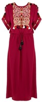 Figue Naya Embroidered Silk-georgette Dress - Womens - Pink