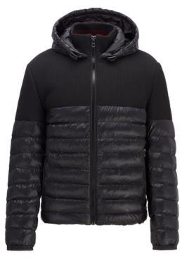 HUGO BOSS Regular-fit water-repellent jacket in mixed fabrics