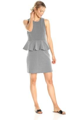 Paris Sunday Women's Sleeveless Jacquard 2 Piece Skirt Set