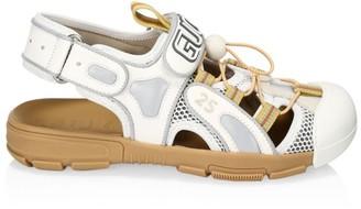 Gucci Tinsel Fabric Sandals