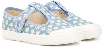 Pépé flower T-bar strap shoes