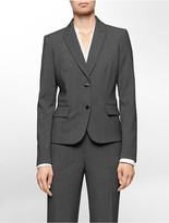 Calvin Klein Two Button Charcoal Suit Jacket