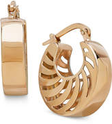 Macy's Double Swirl Cutout Hoop Earrings in Italian 14k Gold
