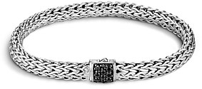 John Hardy Classic Chain Sterling Silver Lava Small Bracelet with Black Sapphire