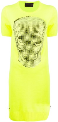 Philipp Plein knitted skull dress