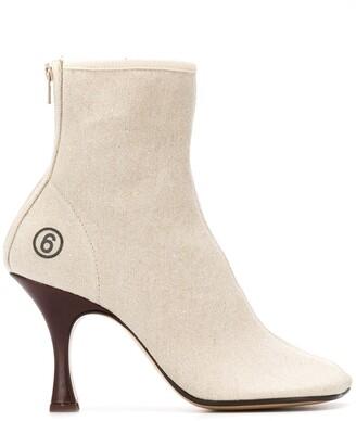 MM6 MAISON MARGIELA Logo Anatomic Ankle Boots
