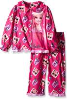 Komar Kids Barbie Pink Button Front Toddler Pajamas for girls