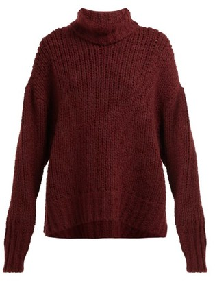 By. Bonnie Young - Oversized Cashmere-blend Sweater - Womens - Burgundy