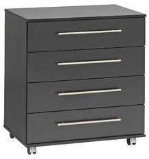 Ideal Furniture BOBY0008-BCH 4 Drawer Chest, Wood, Beech