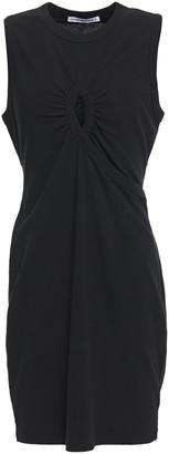 alexanderwang.t Cutout Gathered Cotton-jersey Mini Dress