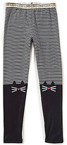 Jessica Simpson Big Girls 7-16 Surry Striped Cat Leggings