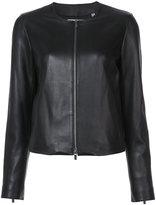 Vince zipped jacket - women - Silk/Lamb Nubuck Leather - S
