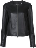 Vince zipped jacket - women - Silk/Lamb Nubuck Leather - XS