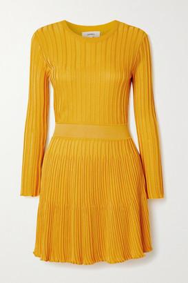CASASOLA + Net Sustain Ribbed-knit Mini Dress - Yellow