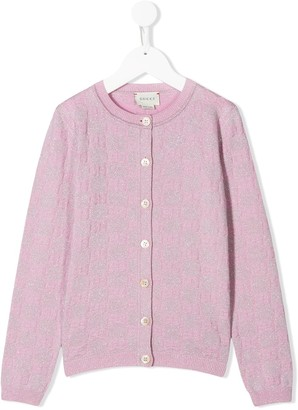 Gucci Kids Monogram Pattern Cardigan
