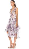 Zimmermann Ringmaster Harlequin Silk Dress in Print