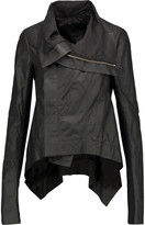 Rick Owens Naska asymmetric leather jacket