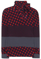 RED Valentino Polka-dot Printed Silk Shirt