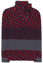 RED Valentino Polka-dot printed silk shirt