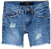 Joe's Jeans Mid Rise Frayed Hem Shorts (Little Girls)