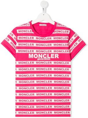 Moncler Enfant TEEN logo print T-shirt