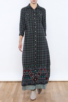 3J Workshop by Johnny Was Embroidered Plaid Maxi