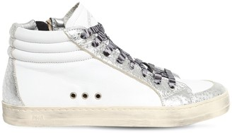 P448 20mm Skate Leather High Top Sneakers