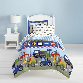 Dream Factory Trains and Trucks 5-7 Piece Comforter Set