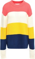Parker Chinti & Color-block Wool And Cashmere-blend Sweater