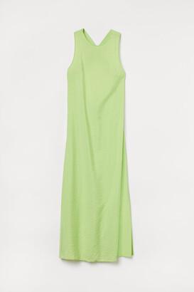 H&M Slit-detail Dress - Green