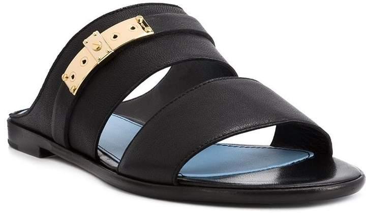 Lanvin double strap sandals