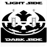 Light Side Dark Side Double Light Switch Plate