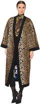 Ungaro Leopard Printed Silk Satin Kimono Coat