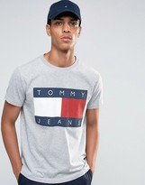 Tommy Jeans 90s T-Shirt in Gray Marl