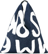 MM6 MAISON MARGIELA printed denim tote - women - Cotton - One Size