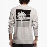 James Perse Cashmere Graphic Crew Sweater