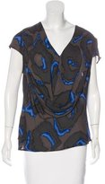 Halston Silk Printed Top