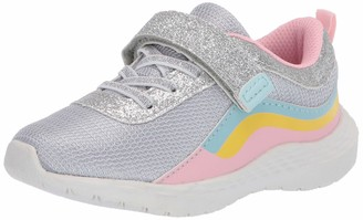 Carter's Girls' Marlee Hook and Loop Athletic Sneaker with Breathable Design