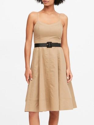Banana Republic Petite Linen-Cotton Midi Dress