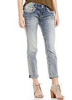 Vigoss Jeans Chelsea Rolled Cuff Woven Stretch Tomboy Jeans