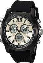 Sean John Men's 'Portofino' Quartz Metal and Silicone Dress Watch, Color:Black (Model: SJC0175001)